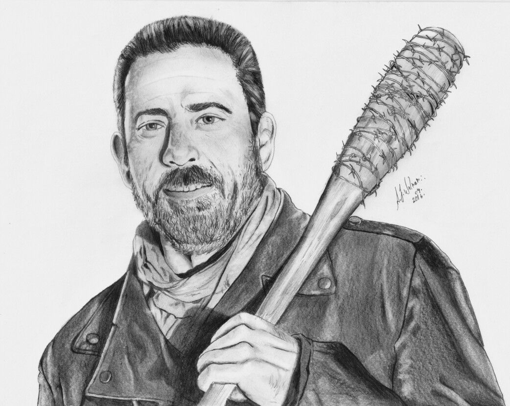 Negan The Walking Dead Artista A J Walker Art Pinterest The