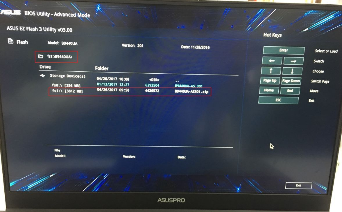 Update BIOS - How to use Easy Flash to update the Notebook