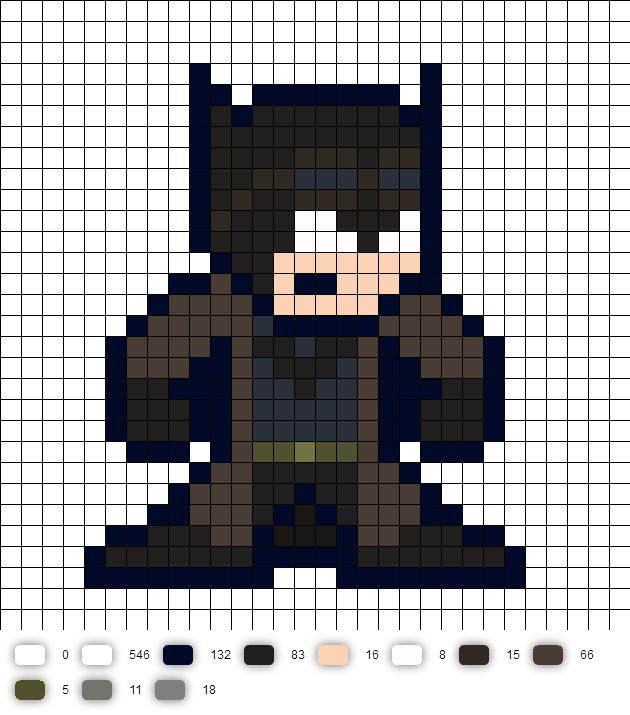 Batman Vs Superman Knightmare Batman Pixel Art Perler