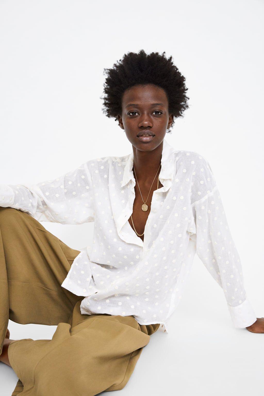 venta al por mayor mayor descuento buscar Blusa oversize lunares bordados   Oversized blouse, Blouse, Polka ...