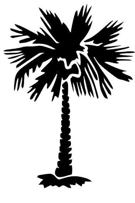 palmetto tree decal by cottoncountryvinyl on etsy projects to try rh pinterest co uk sc palmetto tree clip art Palmetto Tree Template