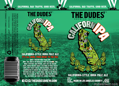 mybeerbuzz.com - Bringing Good Beers & Good People Together...: The Dudes' Brewing - CalifornIPA 16oz Cans