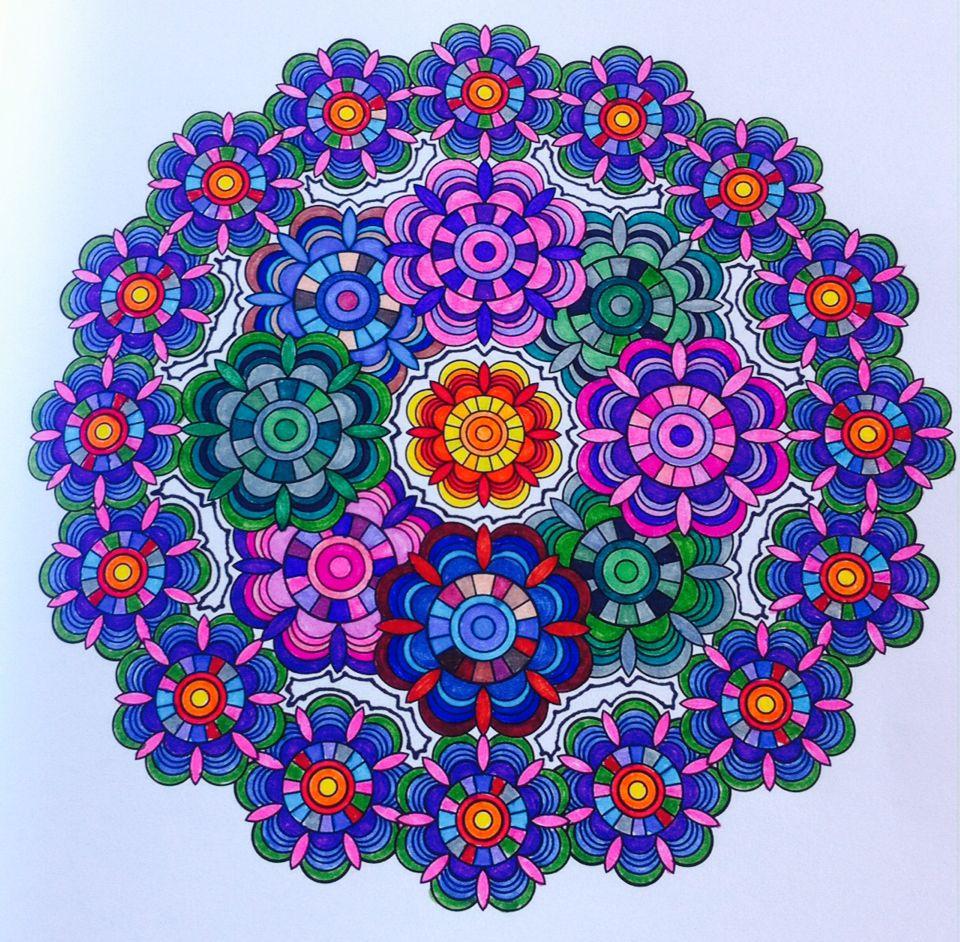 Magnífico Flor Mandala Para Colorear Páginas Nivel Avanzado Regalo ...