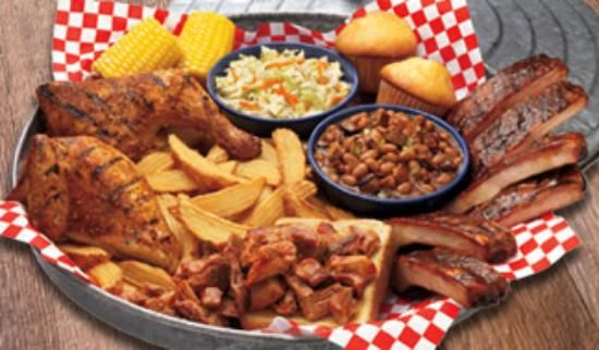 Famous Dave S Bbq Served On A Garbage Can Lid Awesome