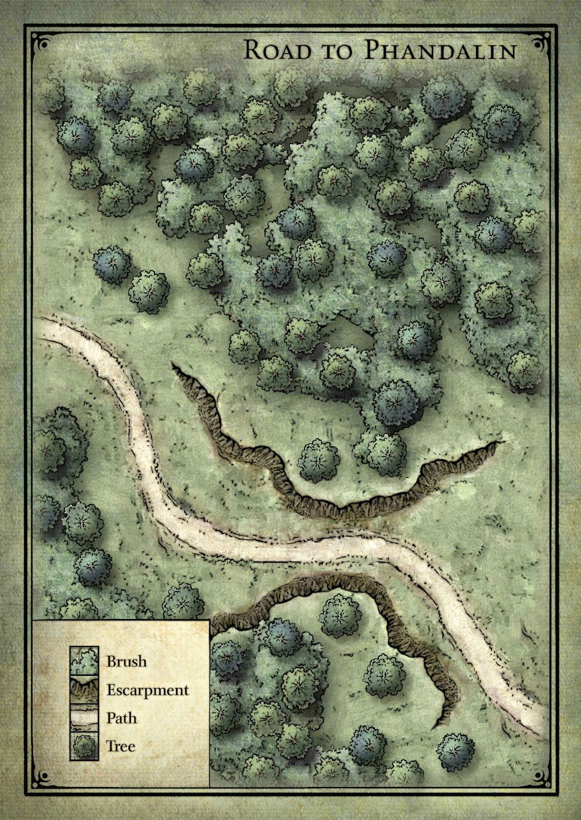Goblin Ambush Map Lost Mine Of Phandelver Dnd World Map Fantasy Map Dungeon Maps