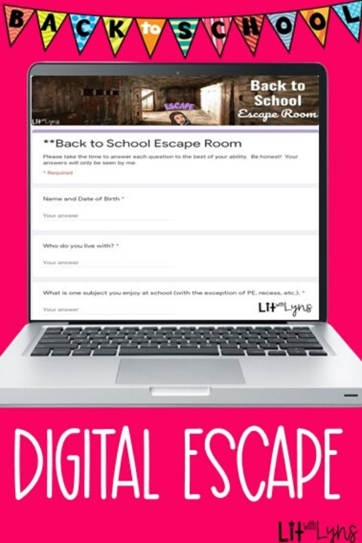 Back to School Digital Escape Room | Distance Learning in ...