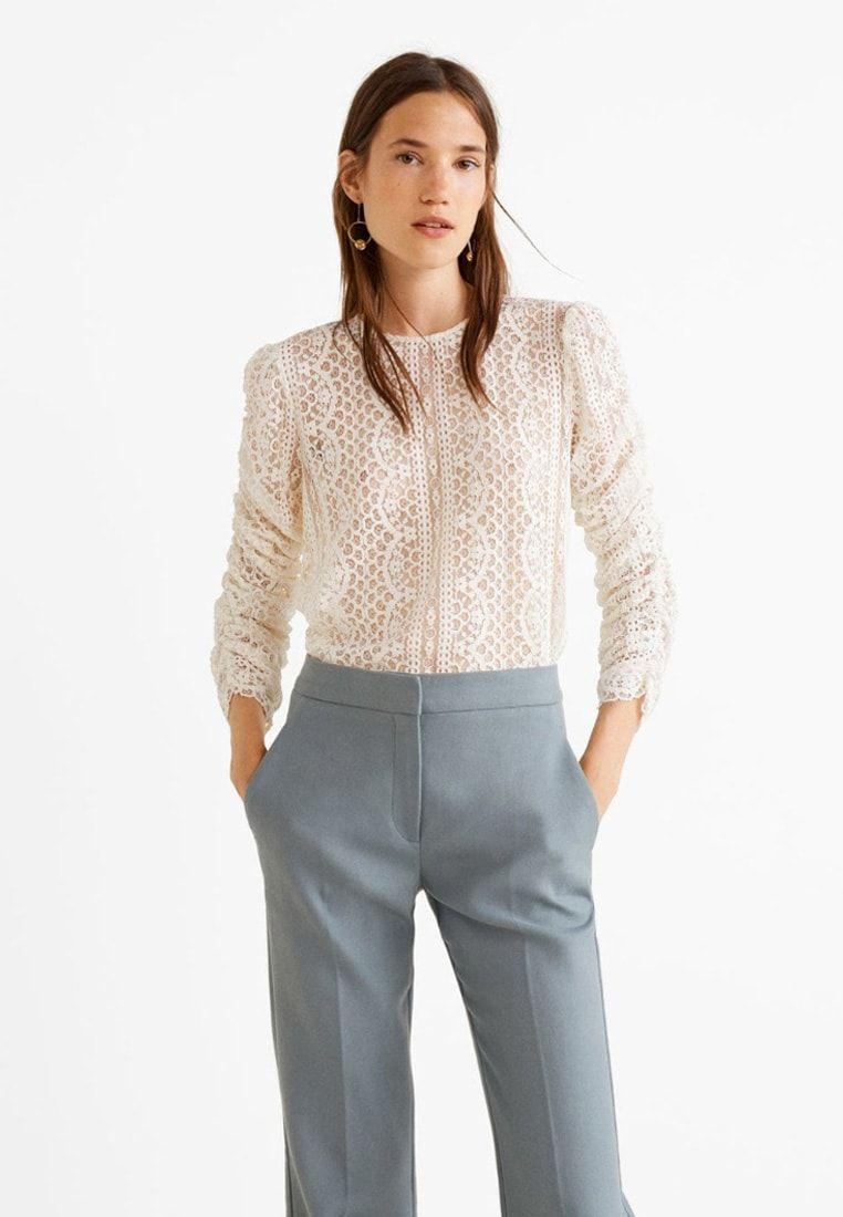 e82d587648d93 REINA - Bluse - creamy white @ Zalando.de 🛒 in 2019   I do. At some ...