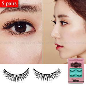 3ead2202b51 Short-False-eyelashes-japanese-dolly-wink-style-Asian-Eyes-5-pairs-Natural -Daily