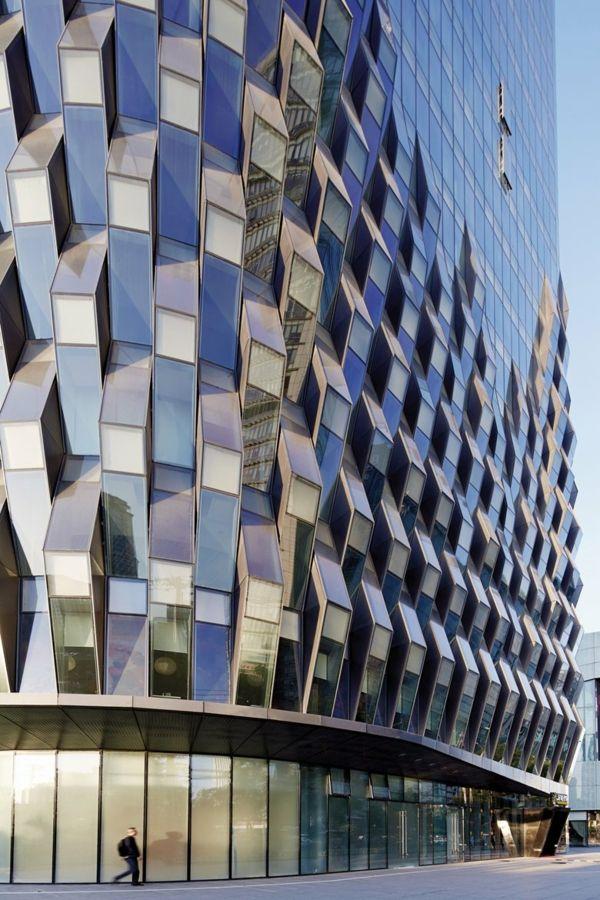 Moderne hausfassaden mit erstaunlichem plissee effekt moderne architektur architektur - Futuristische architektur ...