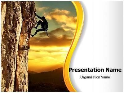 Lone Rock Climber Powerpoint Template Is One Of The Best