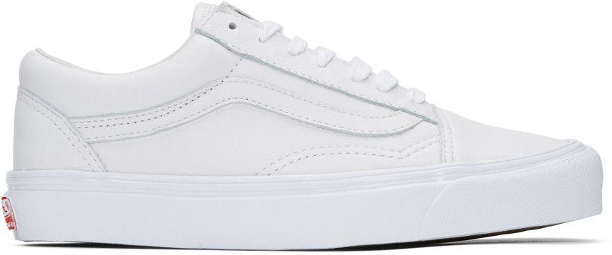 Vans White UA OG Old Skool LX Sneakers | Vans classic old