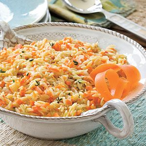 Side Dishes and Salads for Entertaining   Carrot Orzo   SouthernLiving.com