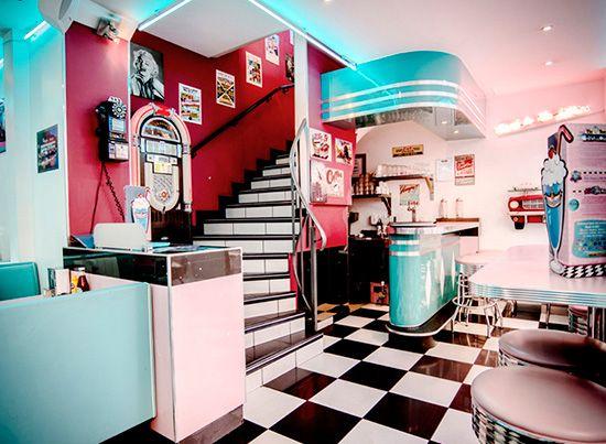 hd diner st michel pour jerome pinterest r tro ann es 50 et annee. Black Bedroom Furniture Sets. Home Design Ideas