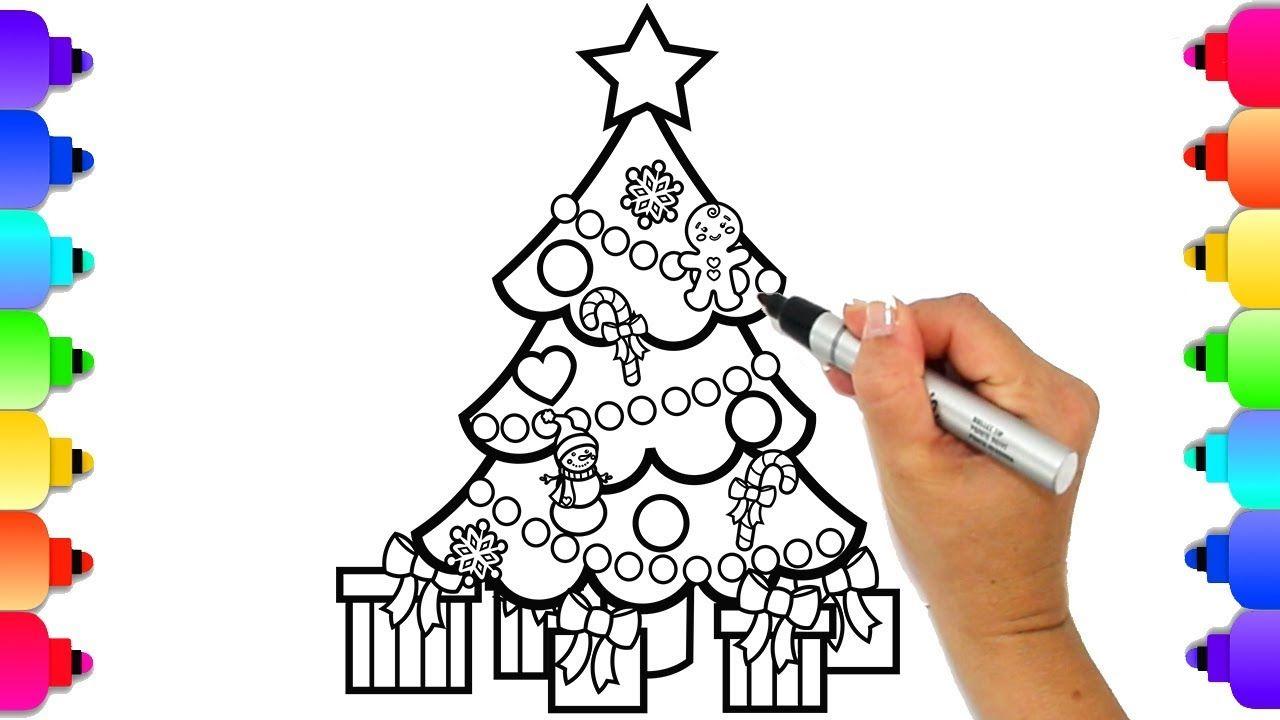 How To Draw A Christmas Tree Christmas Coloring Pages Glitter Art Christmas Coloring Pages Christmas Tree Coloring Page Coloring Pages