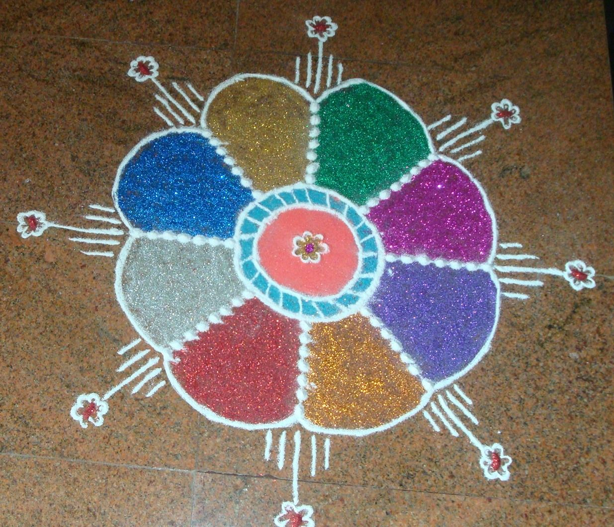 Rangoli Designs - Most Easy Ones | Simple rangoli and ...