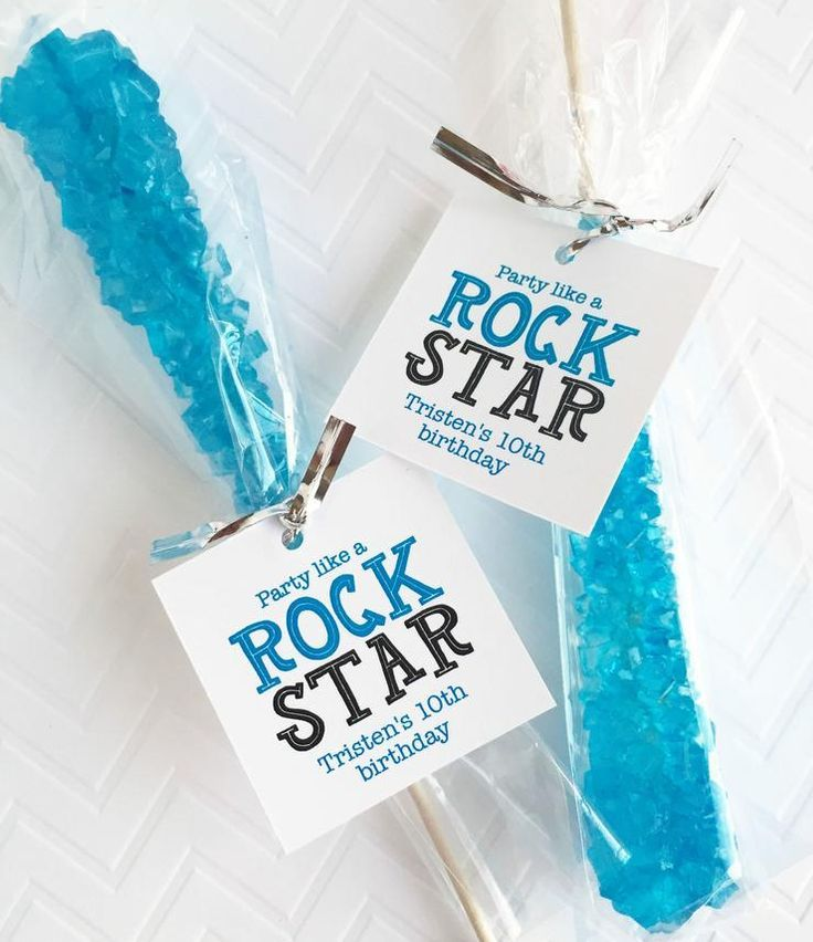 Party Like A Rock Star Rock Candy Tags
