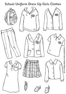 School uniform dress up girls clothes (With images