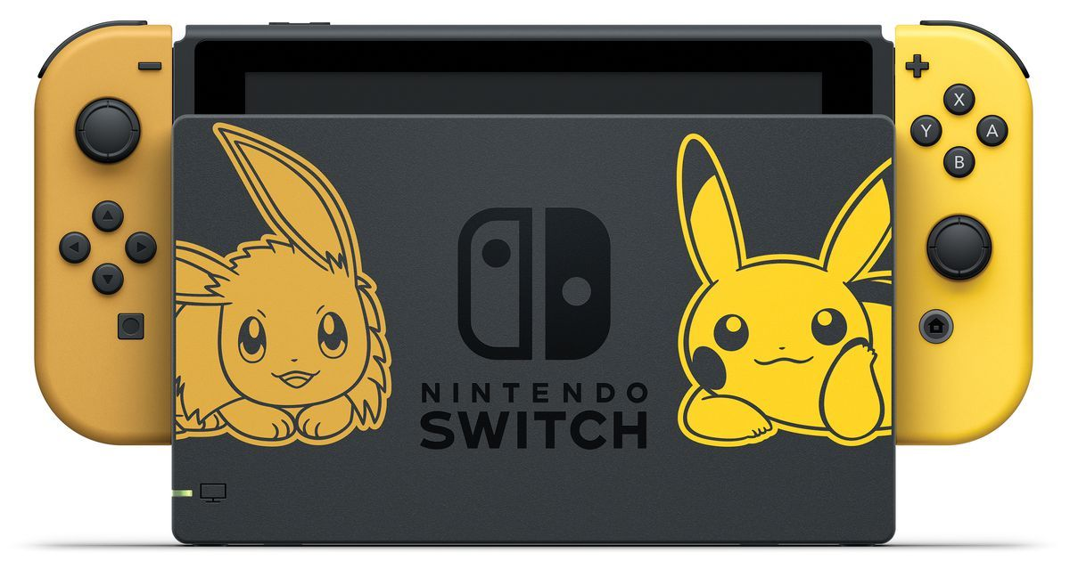 Special Pokemon Edition Nintendo Switch Adores With Pikachu And Evee
