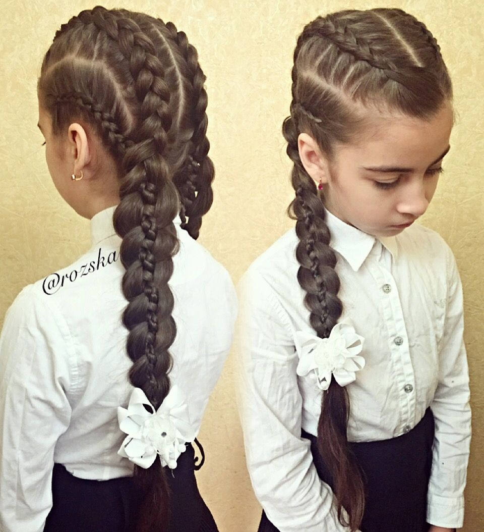 Hairstylesforgirlsashtonspotlightкосыкосывшколукосыслентами