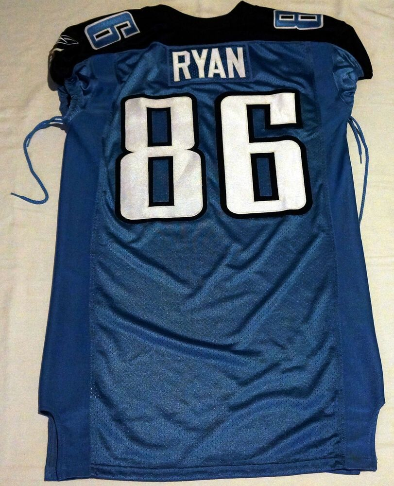 86 Sean Ryan Authentic Game Issued Tennessee Titans Jersey | Game  free shipping