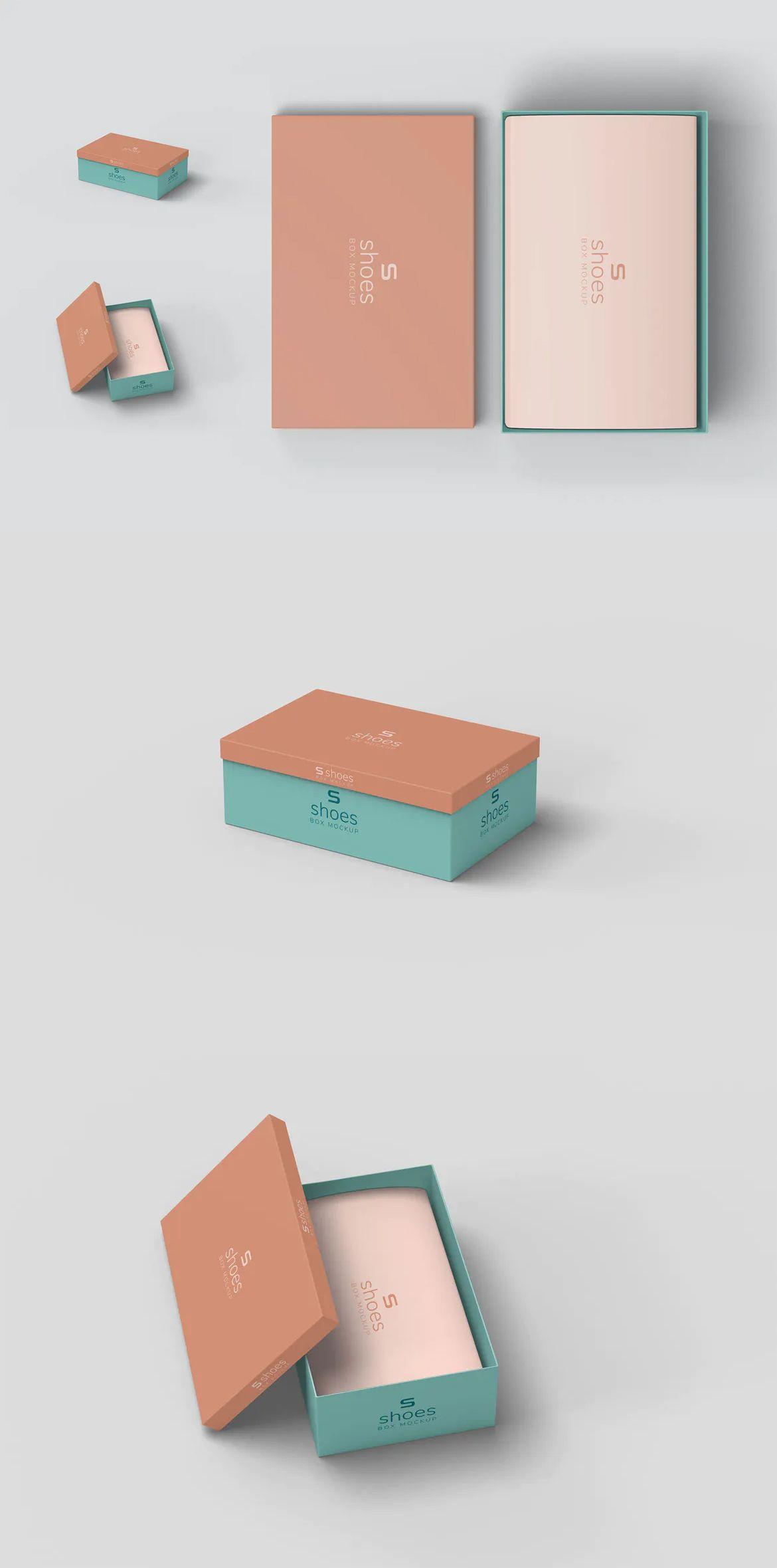 Download Shoe Box Mockups Box Mockup Shoe Box Mockup Design