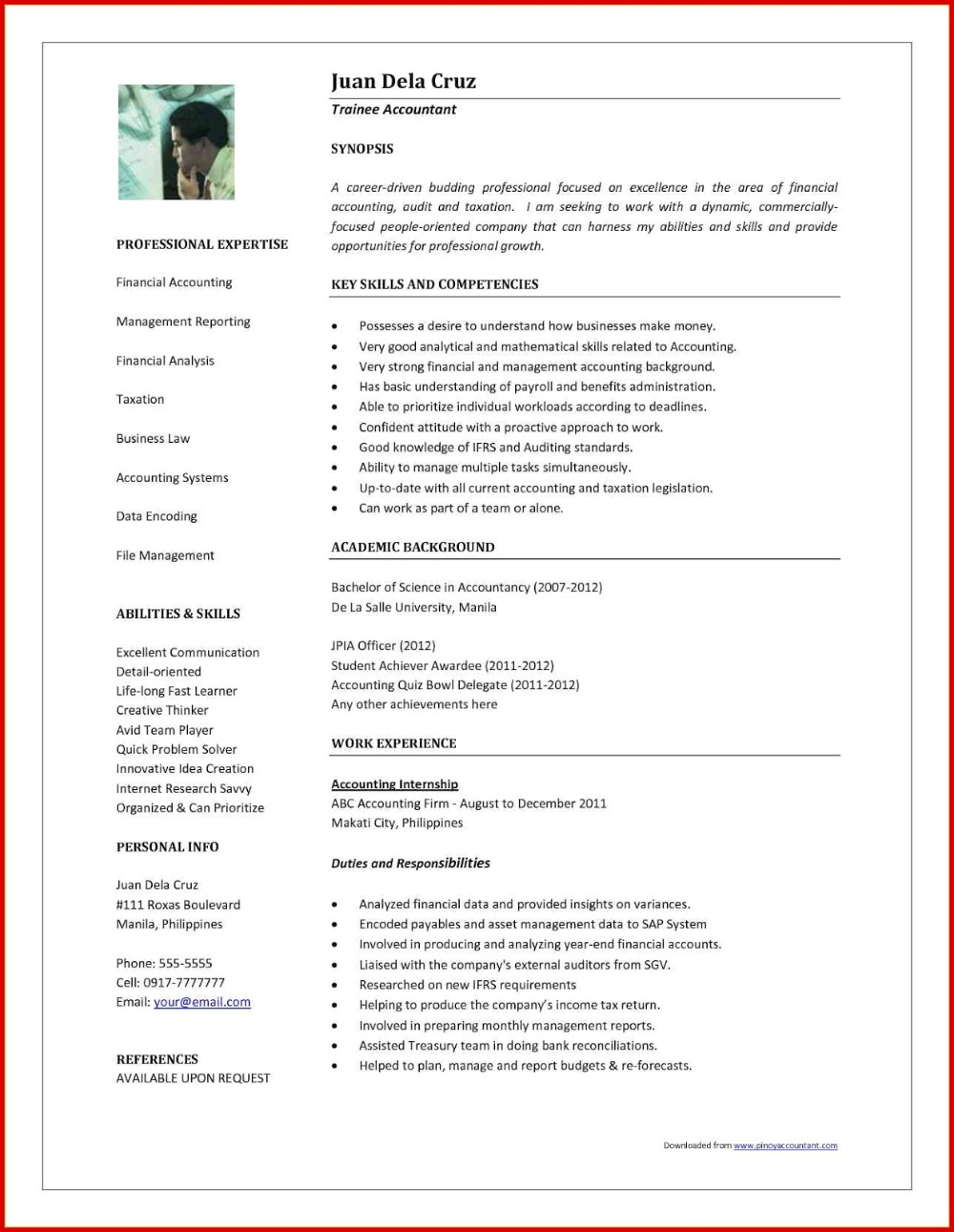 Accountant Resume Format 2019 2020 In 2020 Business Letter