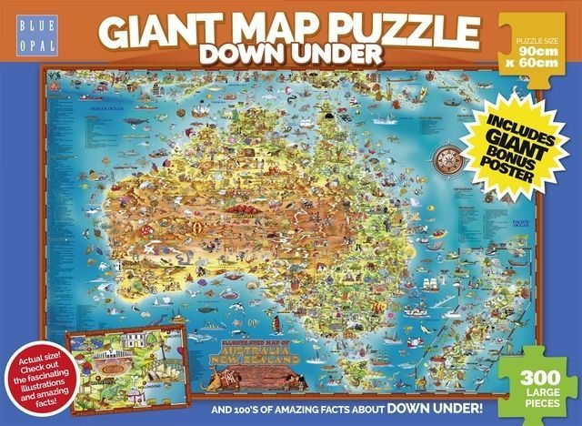 Blue opal giant australia map down under puzzle available at kids blue opal giant australia map down under puzzle available at kids mega mart online store gumiabroncs Image collections