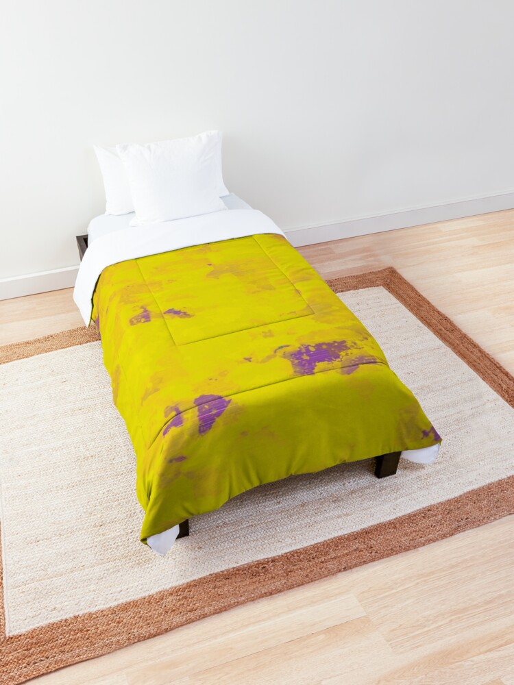 Yellow Painting Beautiful Composition Comforter By Htbarts In 2020 Comforters Comforter Sets Comforter Cover