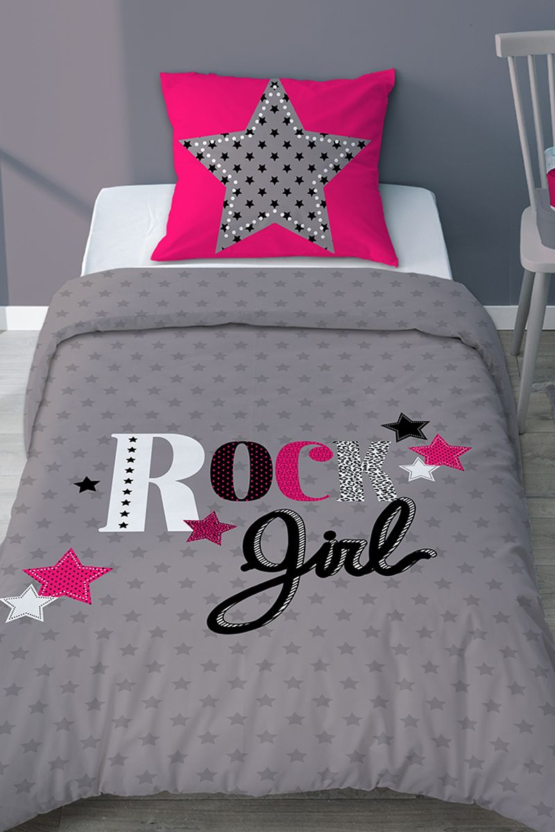 Tendance Rock Chambre Ado Fille Housse De Couette Girly Rock Bed Spreads Bedding Sets Bed