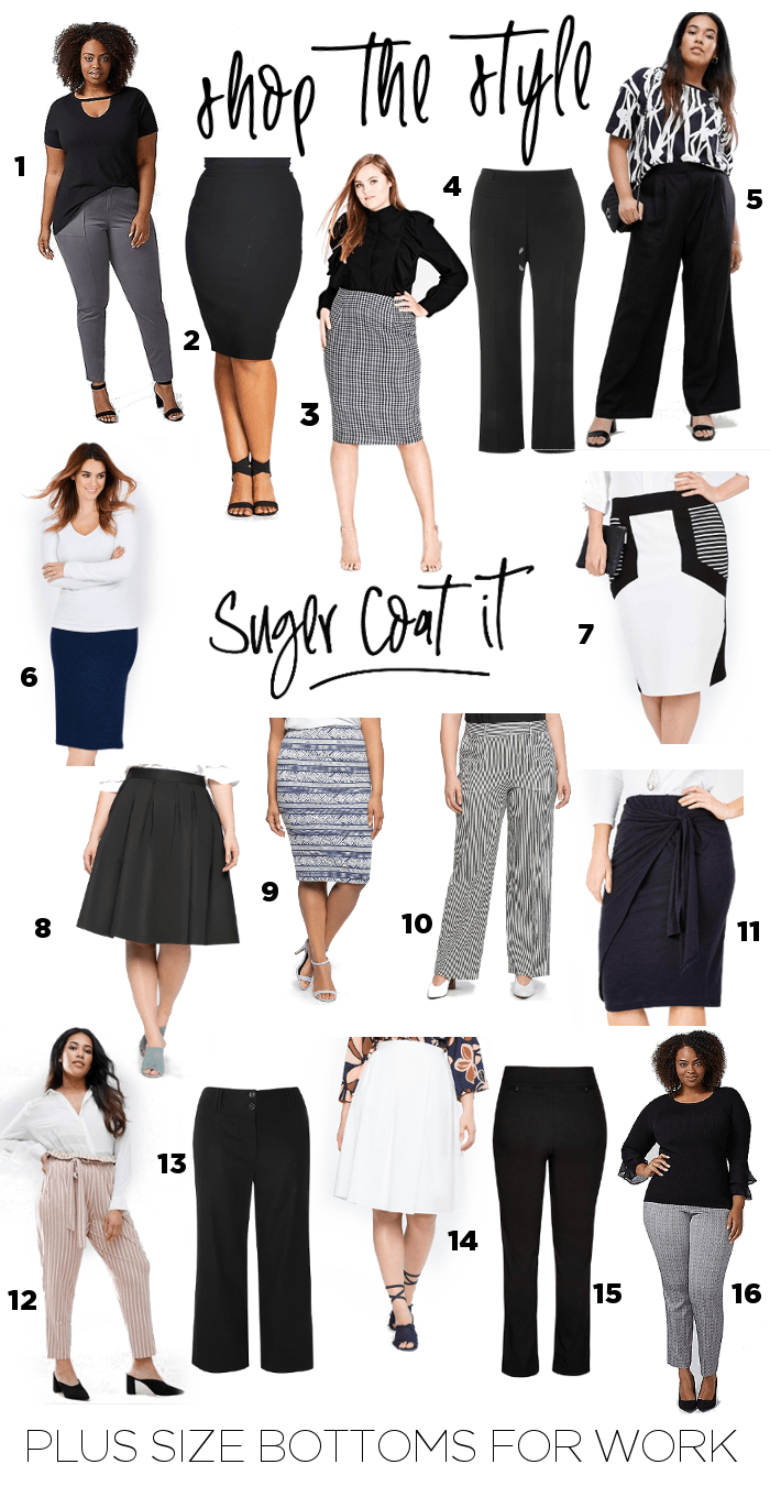 Plus size bottoms for work • Suger Coat It 4