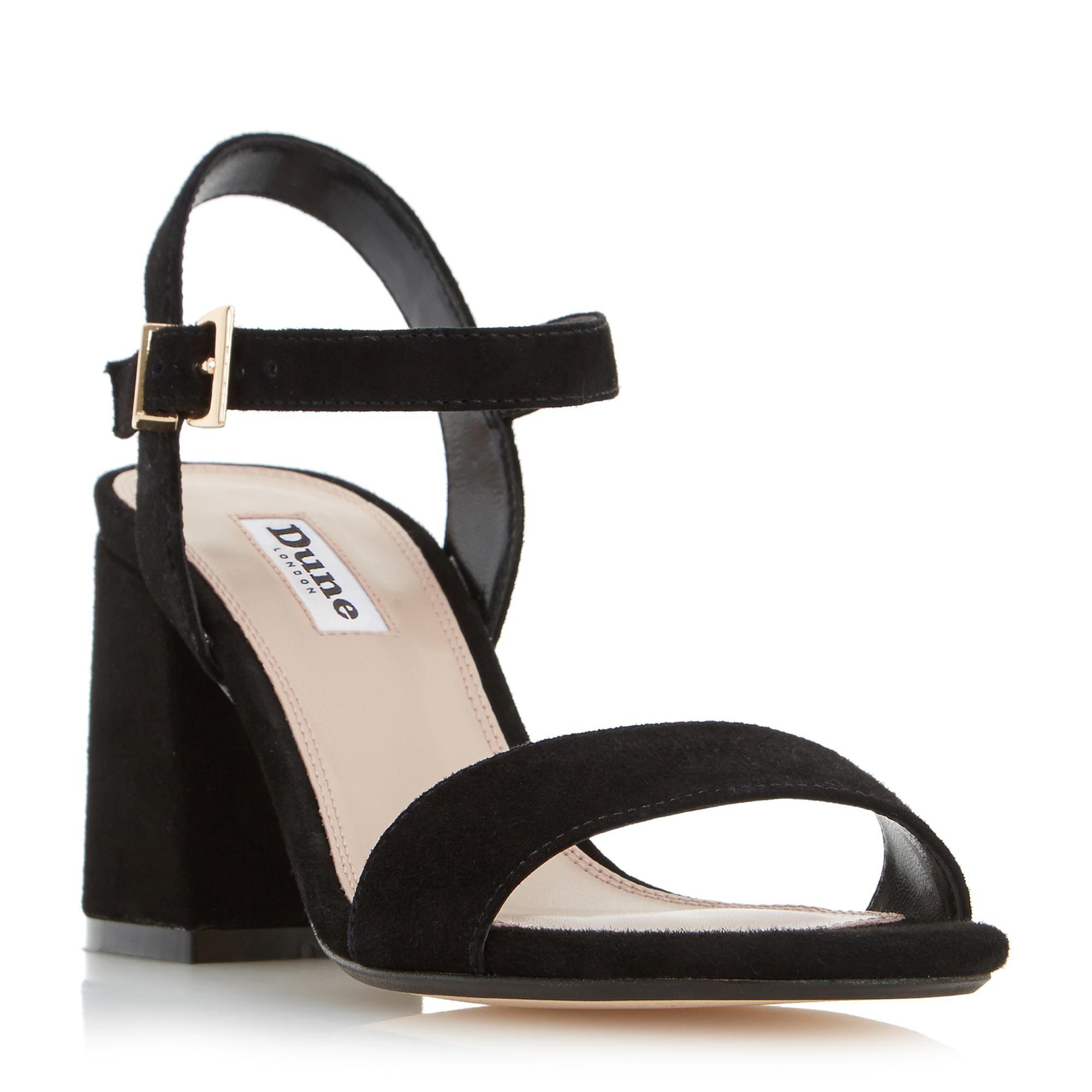 black block heel sandals dune