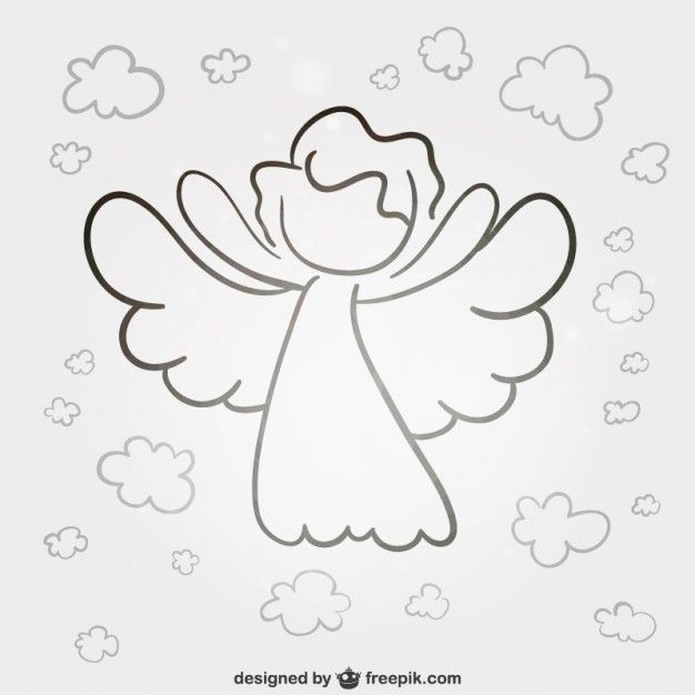 Download Lineart Angel For Free Engel Zeichnen Engel Vorlage Engel Zeichnung