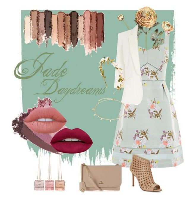 Jade Daydreams by values on Polyvore featuring polyvore, mode, style, Oasis, Jolie Moi, Charles by Charles David, Vivienne Westwood, tarte, Gucci, Lime Crime, Huda Beauty, Christian Louboutin, fashion and clothing