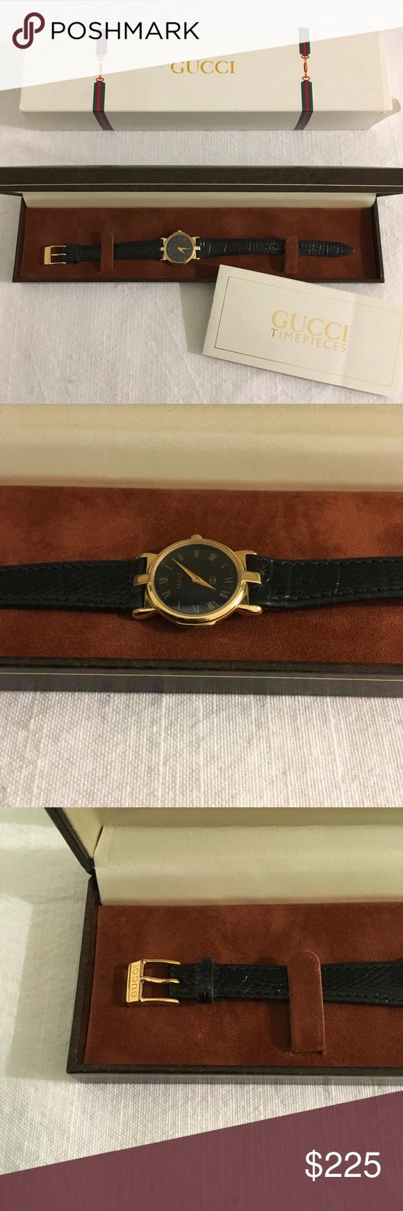 d07f0cd86e5 Gucci Watch 3400L VTG Gucci Watch 3400L with black Gucci band