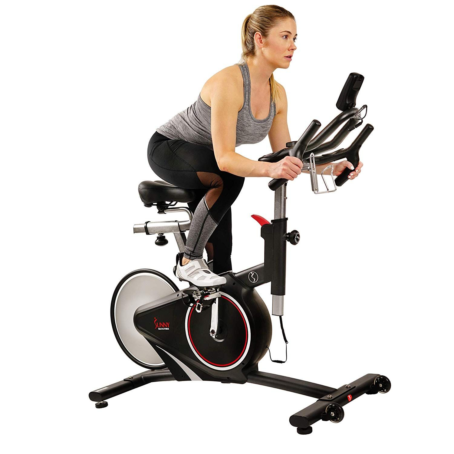 Sunny Health Fitness Magnetic Belt Rear Drive Indoor Cycling Bike High Weight Capacity With Rpm Cadence Sensor Pulse Rate Monitor Sf B1709 In 2020 Indoor Cycling Bike Indoor Cycling Workout Belt
