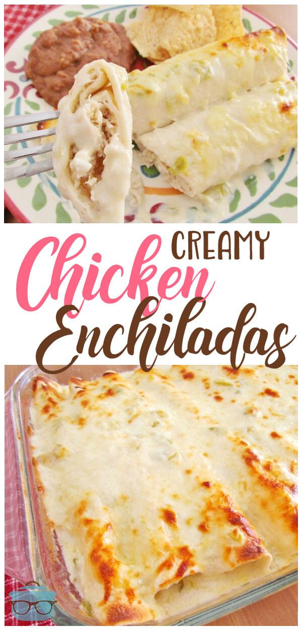 Creamy Chicken Enchiladas images