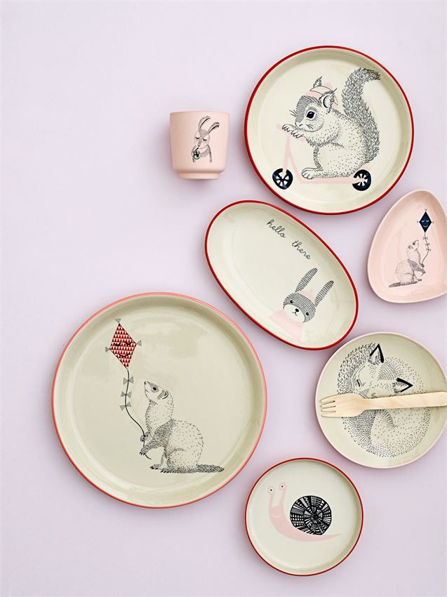 Hello There Ceramic Plate With Images Ceramics Kids Tableware Mini Plate