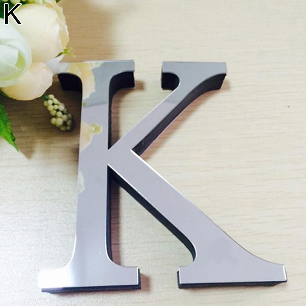 Photo of Fashion English Letters Alphabet DIY Art Mural Home Decor Mirror Wall Stickers – as the picture ap