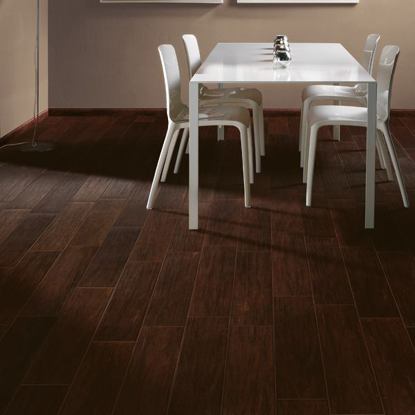 Espresso Faux Wood Tile Use Matching Grout For A More Realistic Look Http