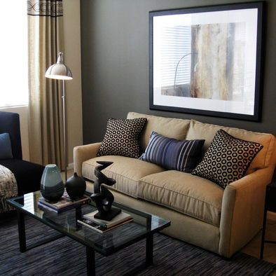 Gray Walls Tan Curtains And A Sleeper Sofa For Company River