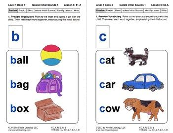 Isolate Initial Sounds 1: Lesson 6, Book 4 (Newitt Prereading Series)