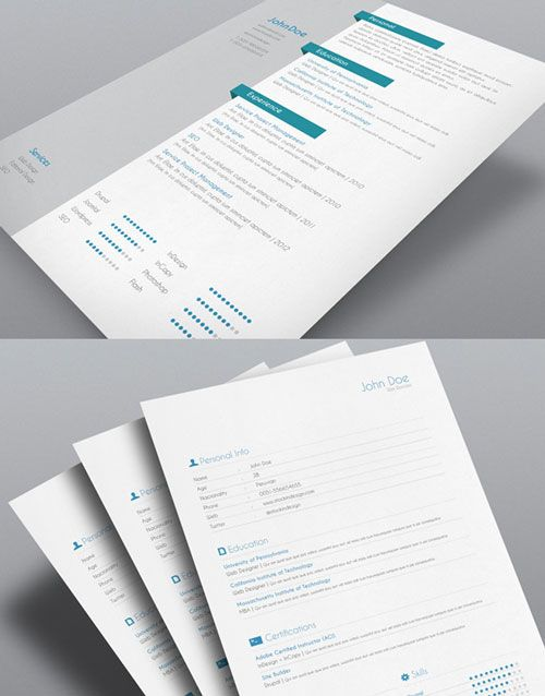 8 Sets Of Free Indesign Cv/Resume Templates | Free Indesign