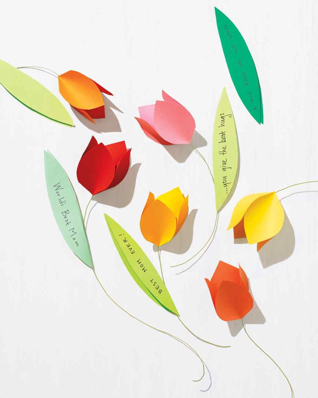Mothers Day Paper Tulip Cards Card Pinterest Flowers Martha