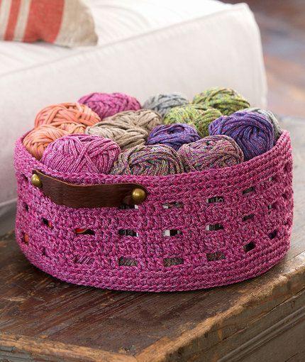 Bricks Basket Free Crochet Pattern in Red Heart Yarns   Crochet ...