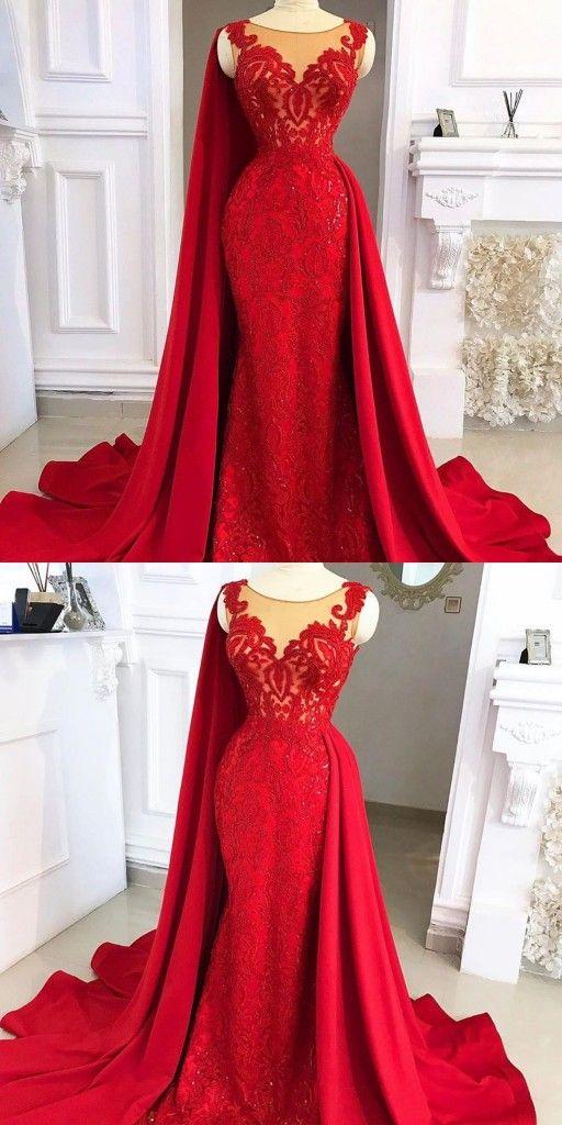 Fashion Abendkleider Lang Rot | Abiballkleider Lang ...