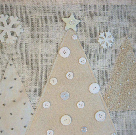 SALE White Burlap Advent Calendar by TinyNestCreations on Etsy
