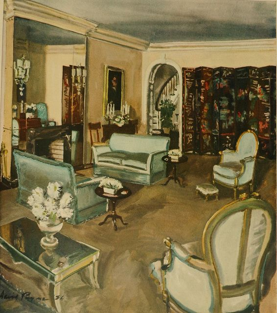 1930s Home Decor: 1930s Living Room By David Mode Payne In 2019