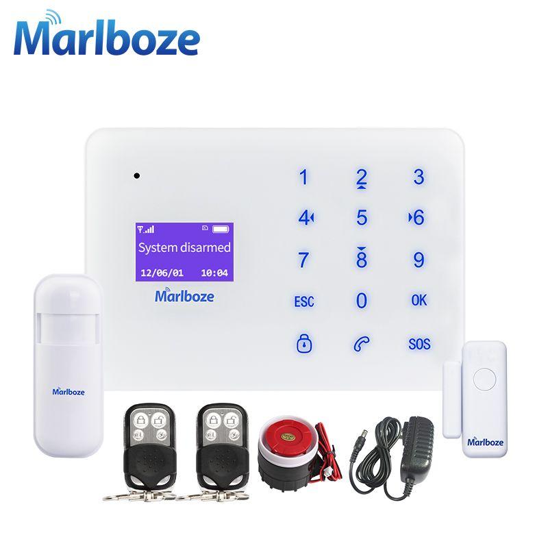 Preis überprüfen Marlboze A2 Englisch Französisch Russisch Spanisch Sprach  Drahtlose Verdrahtete Home Security GSM Alarmanlage LCD