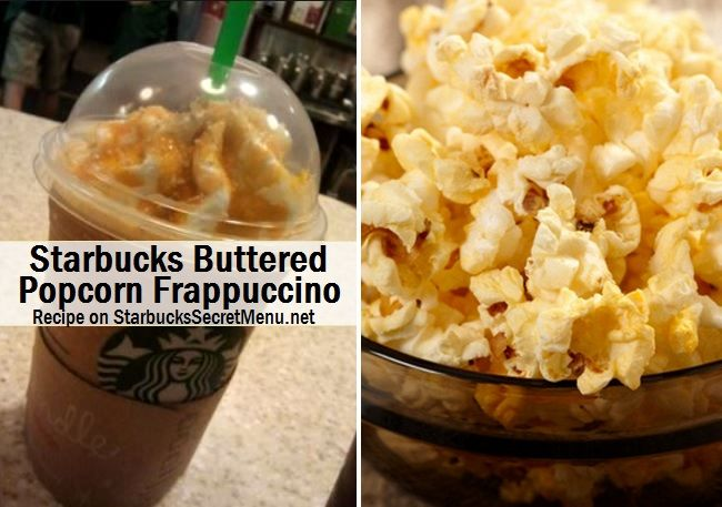 Starbucks Buttered Popcorn Frappuccino! #Starbuckssecretmenu For the sweet and salty lover!