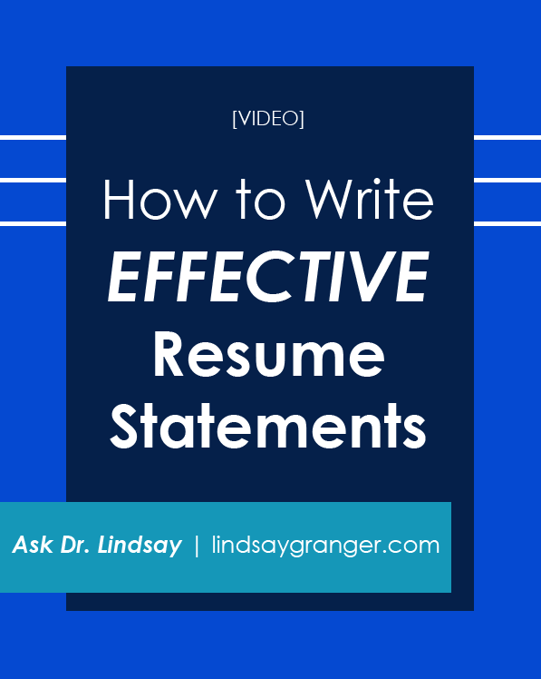 how write effective resume statements video having trouble